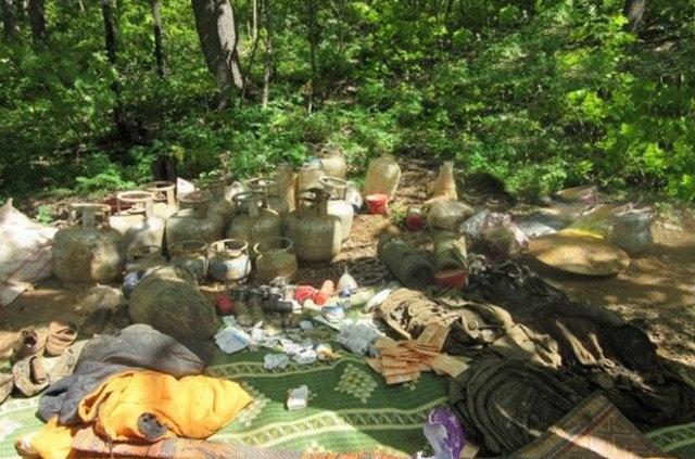 Bingöl'de kırsalda PKK sığınaği bulundu