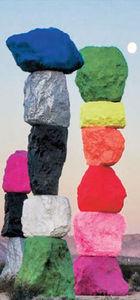 ABD''li sanatçı, 'Taş üstüne taş' koydu ve sergi açtı