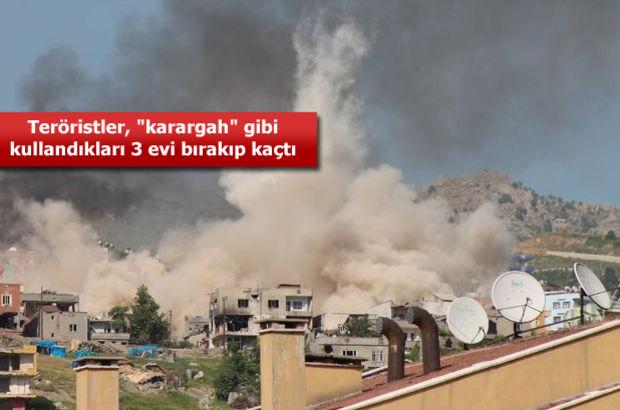 Şırnak'ta tank ve Kobralar teröristleri böyle vurdu