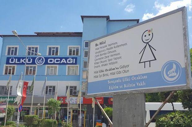 Çorum Ülkü Ocakları'ndan 'Baba beni ocağa gönder' afişi