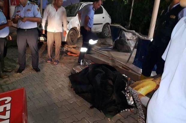 Mersin'de alkollü sürücü kokoreççi dükkanına daldı
