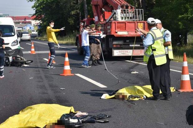 Tekirdağ'da kamyon motosikleti biçti: 2 ölü