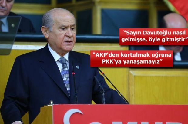 MHP Genel Başkanı Devlet Bahçeli: AKP hükümetine desteğimiz terörle mücadele ile sınırlıdır