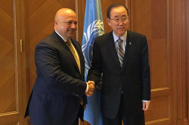 Terzioğlu Ban Ki-moon ile görüştü
