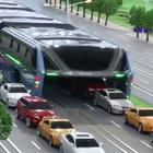Çin'de 1200 yolcu taşıyabilen otobüs projesi görücüye çıktı