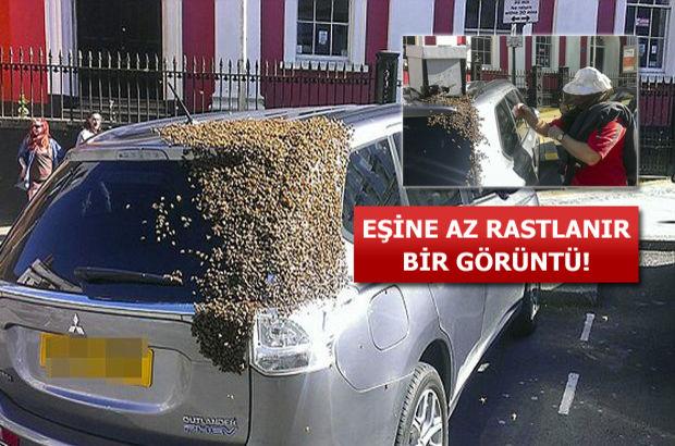 Kraliçeleri arabada mahsur kalınca...