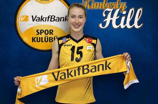 VakıfBank, Kimbelry Hill'in sözleşmesini uzattı