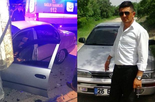 Eskişehir'de arkadaşına araba kullanmayı öğretmek isterken kaza yaparak öldü