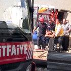 Kartal'da apartman boşluğuna düşen işçi kurtarıldı