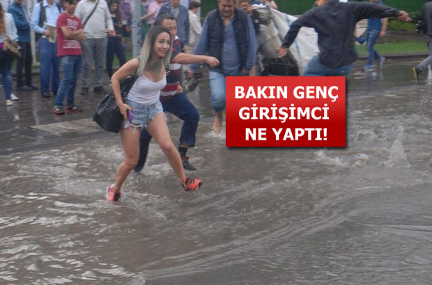 İzmir'de bu manzarayı fırsata çevirdi!