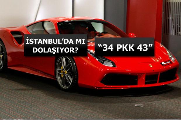 """Emniyet'ten """"PKK Plakalı Ferrari"""" açıklaması"""