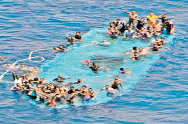 Libya açıklarında 80 mülteci boğuldu