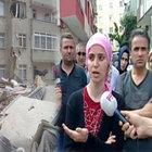 Bahçelievler'de çöken bina mağdurları Habertürk TV'de