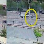 Ankara'da takla atan araçtan böyle çıktı