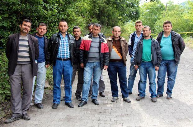 Eylem yapan madencilere Ramazan yardımı