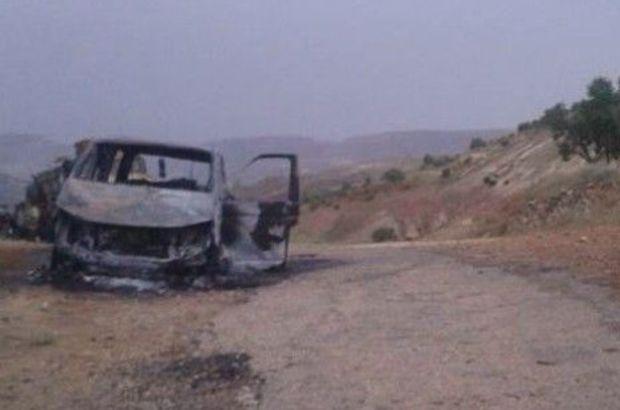 Mardin'in Yeşilli ilçesi Bahçebaşı Mahallesi Muhtarı Mehmet Acu'yu PKK'lılar aracında yaktı
