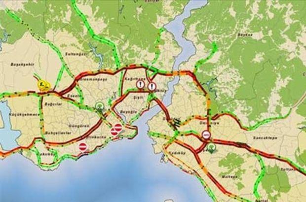 İstanbul'da trafik yoğunluğu yüzde 83'ü aştı
