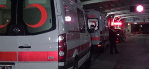 112 personeli merdivenden yuvarlandı