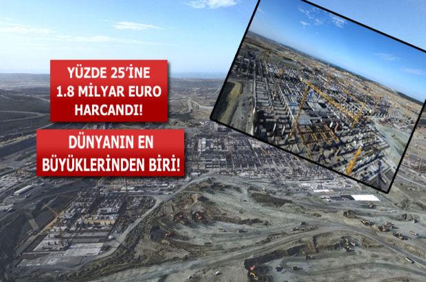 Üçüncü Havalimanı'na 1,8 milyar euro harcandı
