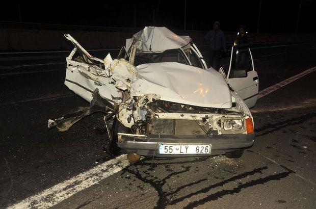 TEM'de trafik kazası: 1 ölü 2 yaralı