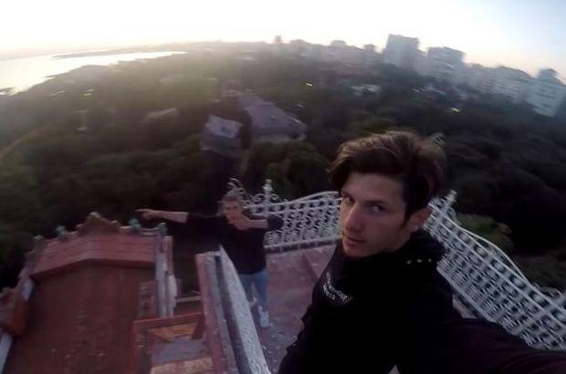 Perili Köşk'e çıkan Pavel Smirnov çatıdan düştü, hafif yaralandı