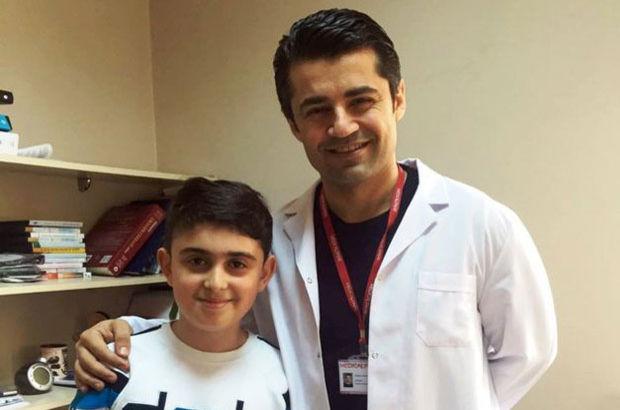 9 yaşındaki Yiğit Efe Fettahoğlu'nun böbreğinden 100 mm taş çıktı!