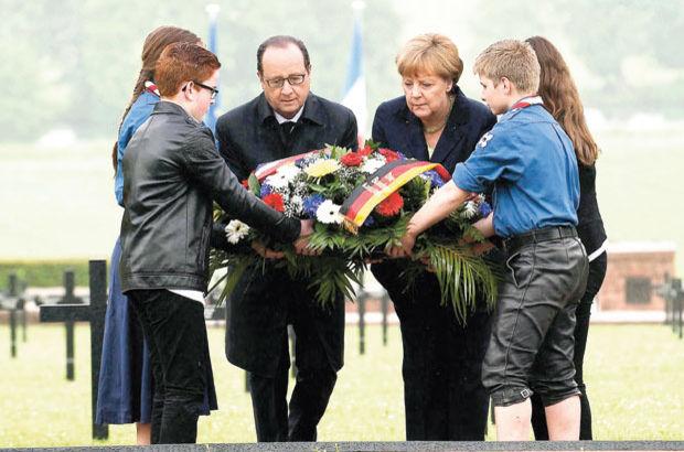 AB liderleri Verdun Muharebesi 100'üncü yıldönümü törenine katıldı