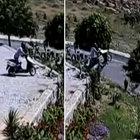 Fransız turist motosikleti ile böyle uçtu