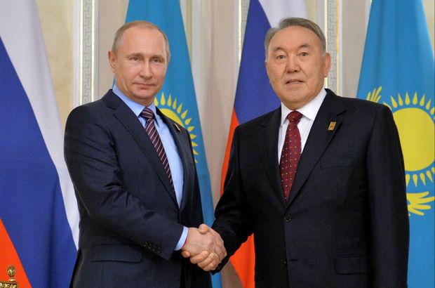 Rusya Devlet Başkanı Vladimir Putin Kazakistan'da