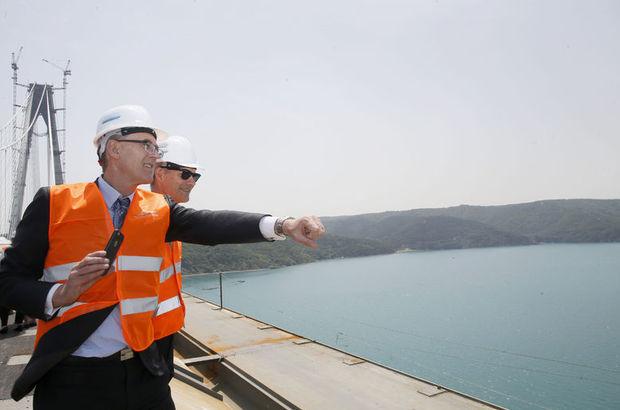 Kadir Topbaş, büyükelçi ve konsoloslara 3. köprüyü gezdirdi