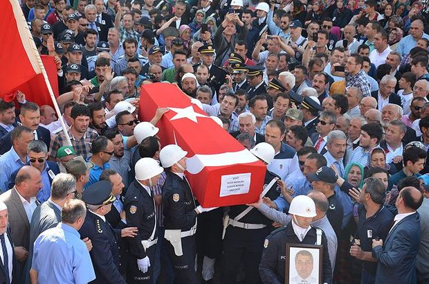 Şehit polis Osman Bodur son yolculuğuna uğurlandı