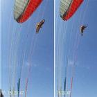 Yamaç paraşütçüsüne kartal saldırdı