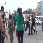 Taksim'deki kavga kameralara yansıdı