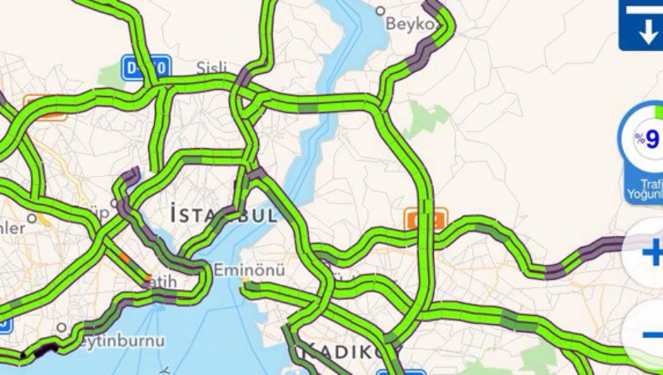 İftardan sonra İstanbul trafiği