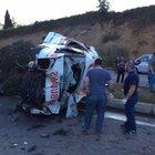 Sakarya'da ambulans takla attı: Hasta öldü, 3 yaralı
