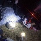 Devrilen traktörün altında sıkıştı, 24 saat sonra yaralı kurtarıldı