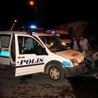 Kayseri'de polis otosu ile otomobil çarpıştı