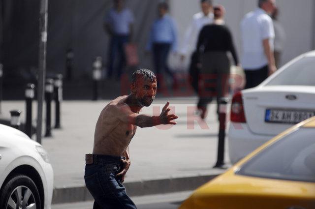 Bu görüntüler bugün Mecidiyeköy'de çekildi
