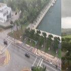 Miami'de fırtınalı havada gökten mobilya yağdı!
