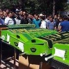 Elazığ'daki tren kazasında ölen 9 kişi toprağa verildi