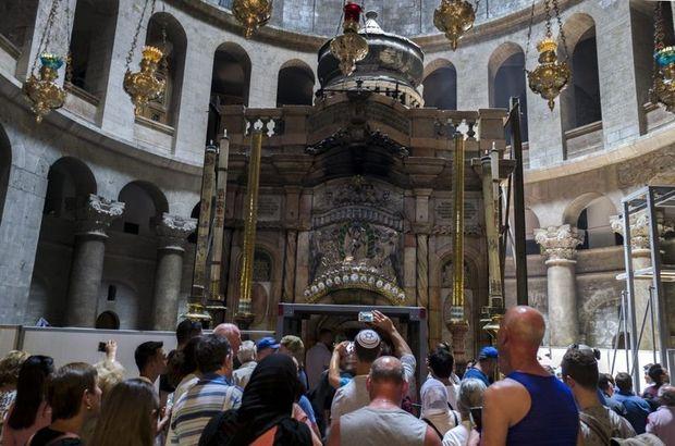 Hz. İsa'nın mezarı restore ediliyor