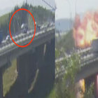 Kocaeli'de TIR'ın çarptığı tanker alev topuna döndü