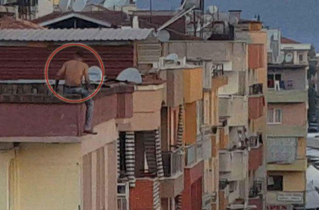 Muğla Ortaca'da hastaneden kaçan Metin. İ., 4 katlı binanın çatısından atladı