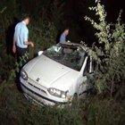 Karabük'te bir araç uçurumdan yuvarlandı