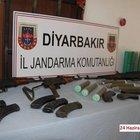 Lice'de PKK'ya ait çok sayıda mühimmat ele geçirildi
