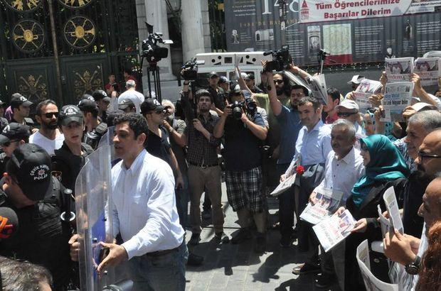 Beyoğlu'nda Özgür Gündem gazetesini dağıtmak isteyenlere müdahale