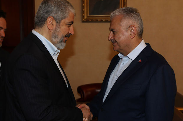 Başbakan Binali Yıldırım, Halid Meşal'le görüştü