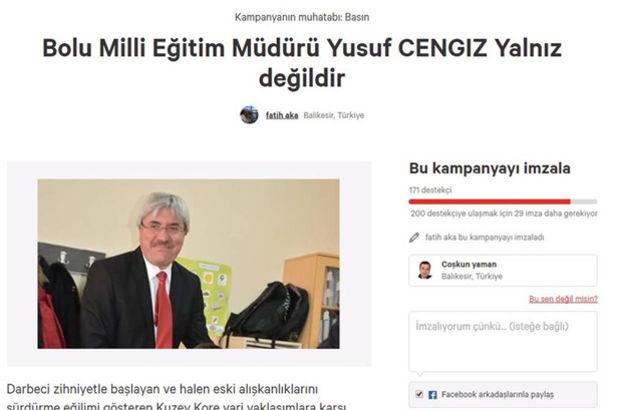 10. Yıl Marşı'nı yasaklayan müdüre destek kampanyası açtılar