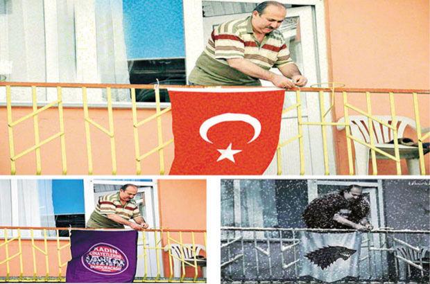 Elif Key: 3 m2 balkona dünyayı sığdırdık | Bayrak asan adam bulundu
