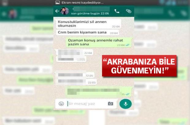 10 yaşındaki kız çocuğunu Whatsapp yoluyla taciz eden kişi tutuklandı!